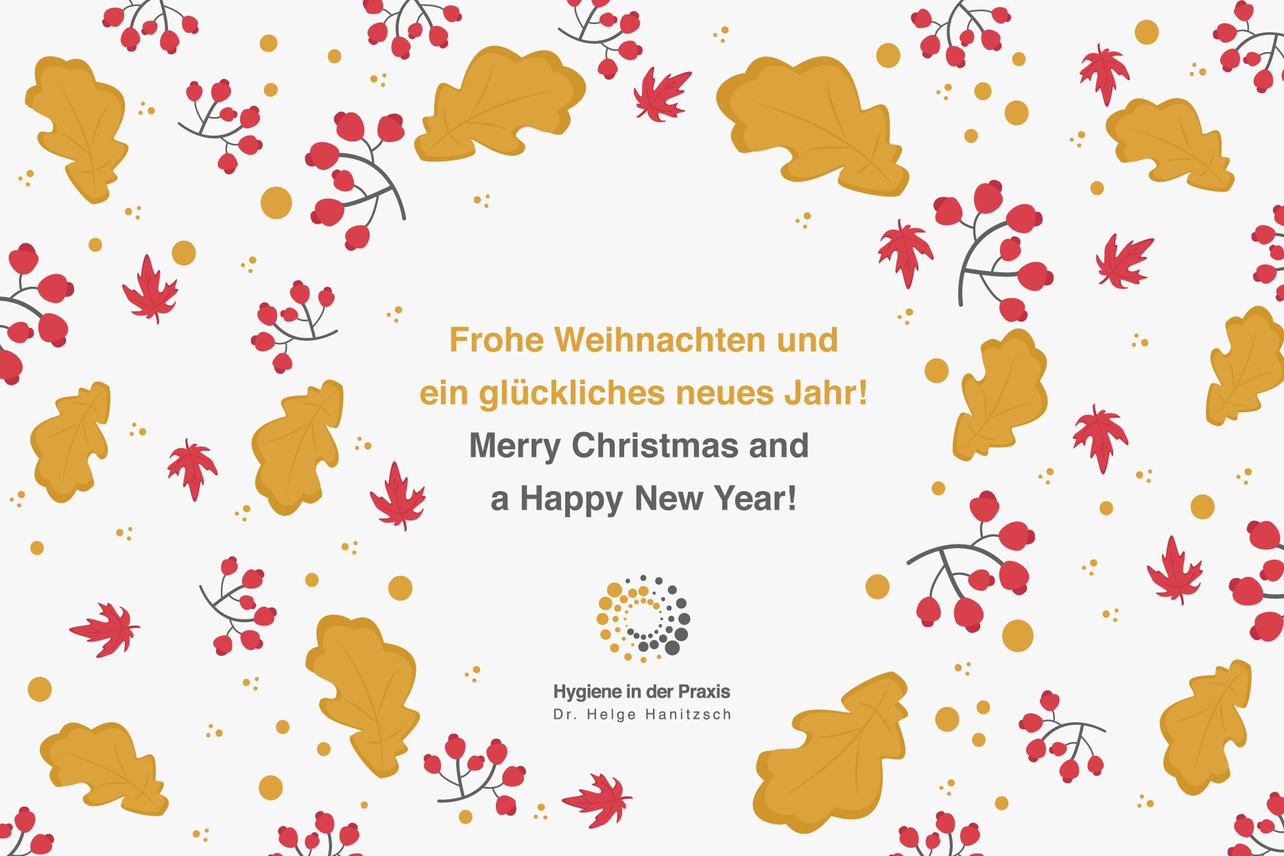 Frohe Weihnachten Und Glückliches Neues Jahr!
